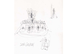 """Frank Gehry's sketches for """"Don Giovanni"""" at Walt Disney ConcertHall"""