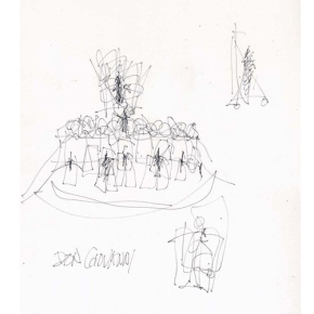 "Frank Gehry's sketches for ""Don Giovanni"" at Walt Disney Concert Hall"
