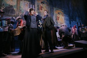 "Justifiably popular:  the latest vibrant young cast inhabits Los Angeles Opera's classic ""La Bohème"""