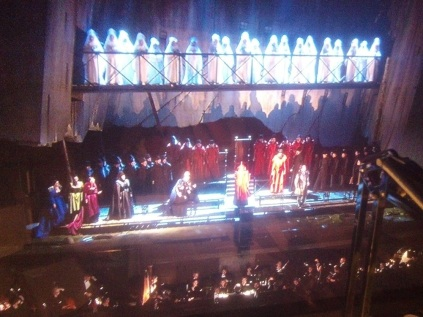 "The climax of Act 2: Opening night of ""I Due Foscari"" at LA Opera (photo by CK Dexter Haven)"