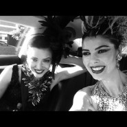 "Models Brandise Danesewich and Linda Taylor on way to work: Opening night of ""I Due Foscari"" at LA Opera (photo courtesy of Linda Taylor)"