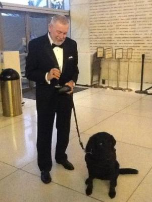 "A gentleman and his guide dog: Opening night of ""I Due Foscari"" at LA Opera (photo by S. Williams for LA Opera)"