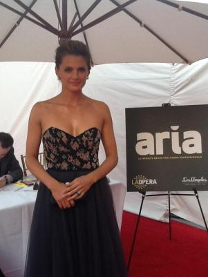 "Stana Katic: Opening night of ""I Due Foscari"" at LA Opera (photo by S. Williams for LA Opera)"