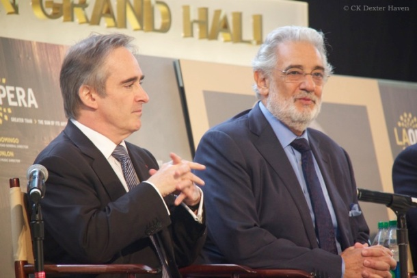 James Conlon and Placido Domingo in 2013 (photo by CK Dexter Haven)