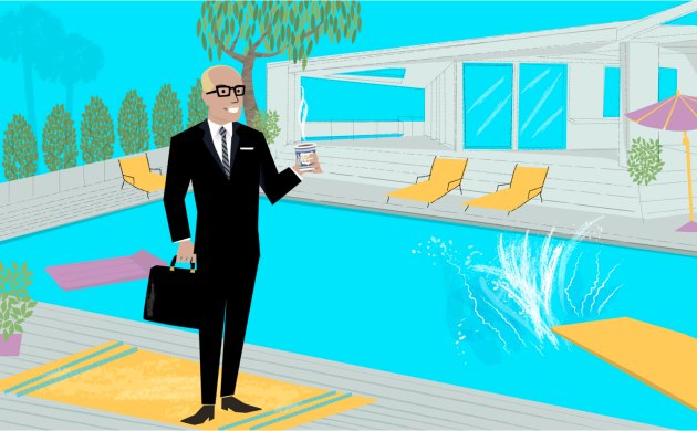 Robert deMaine:  MadMen'ed and Hockney'ed