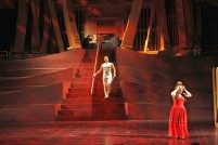 Barbarina, Count, and Countess (Act 2) (dress rehearsal) (Genero Molina/Los Angeles Times)