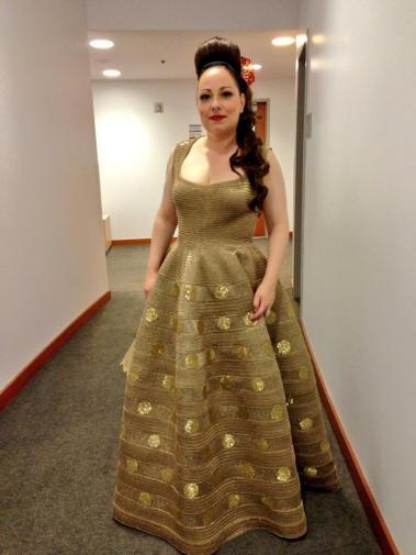 Dorothea Röschmann (Countess) backstage (courtesy of Christopher Maltman's Twitter @chrismaltman)