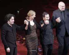 Dudamel, Gilbert, Alaia, and Nouvel (curtain call)