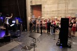 Tosca BTS - Assoc Chorus Master Karen Cooksey conducts chorus in offstage cantata (Act 2)