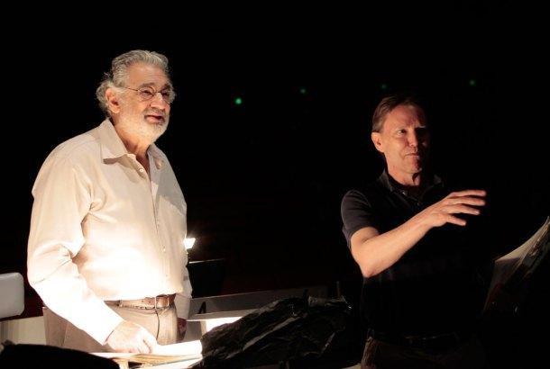 Tosca BTS - Placido Domingo and Grant Gershon