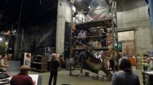 Tosca BTS - rehearsal with Marco Berti and Sondra Radvanovsky on scaffold and John Caird on floor
