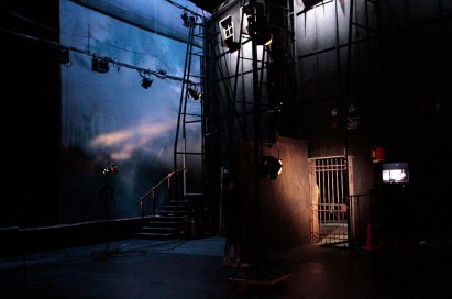 Tosca BTS - set as viewed from stage right wings