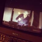 Tosca BTS - sometimes Placido Domingo sings along (photo by Brian Lauritzen)