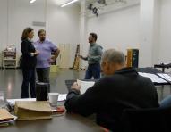 Tosca BTS - Sondra Radvanovsky and Marco Berti rehearsing with John Caird sitting