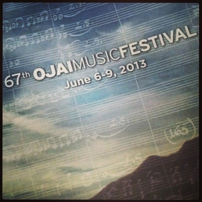 Cover of the program for the Ojai Music Festival (photo: CK Dexter Haven)