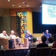 The Bad Plus and Ara Guzelimian, Ojai Talks (photo: CK Dexter Haven)