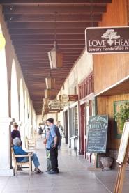 Colonnade across the street from Libbey Park, Ojai, CA (photo: CK Dexter Haven)