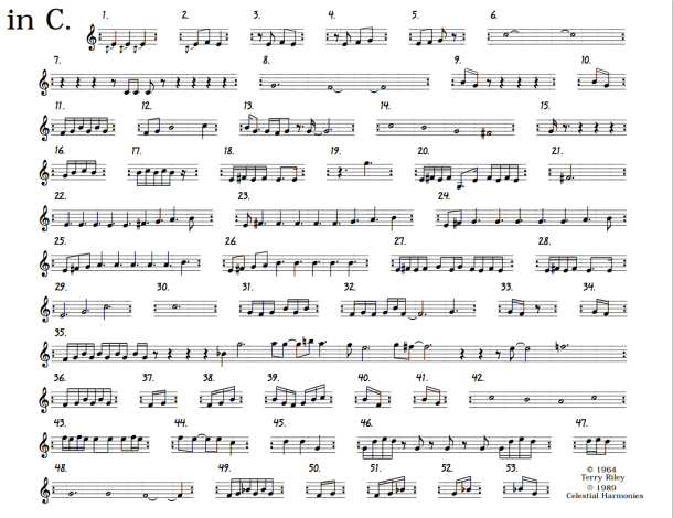 in C (music by Terry Riley)