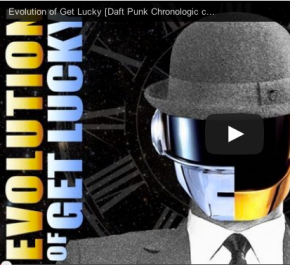"""And now for something completely different:  a chronological cover of Daft Punk's """"GetLucky"""""""