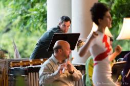 David Johnson (percussion), Larry Kaplan (flute), and Delaram Kamareh (soprano)
