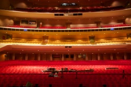 The Dorothy Chandler Pavilion house as seen from the stage