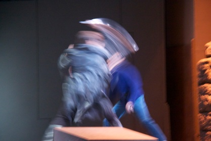 A blur of a knife fight between Brandon Jovanovich (Don Jose) and Ildebrando d'Arcangelo (Escamillo)