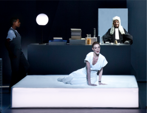 Einstein on the Beach - Kate Moran as the Witness in %22Trial - Jail%22 Scene