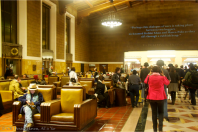 Invisible Cities - Union Station lobby with quote (photo by CK Dexter Haven)