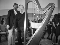 Ignazio Terrasi and James Conlon near harp