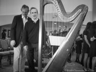Ignazio Terrasi and James Conlon near harp