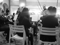 James Conlon conducting SMHS Chamber Orchestra 1 (B&W)