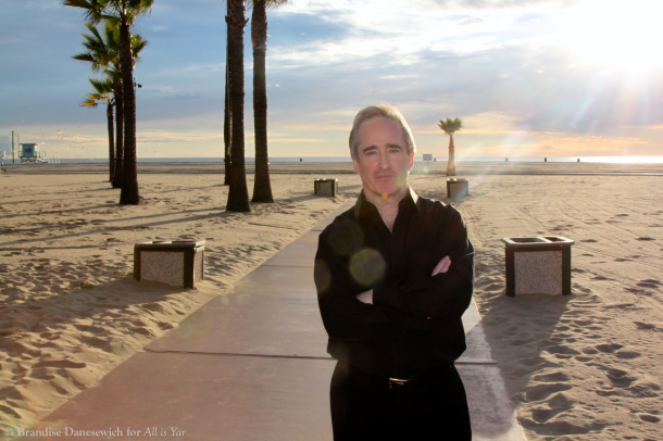 James Conlon standing on Santa Monica beach