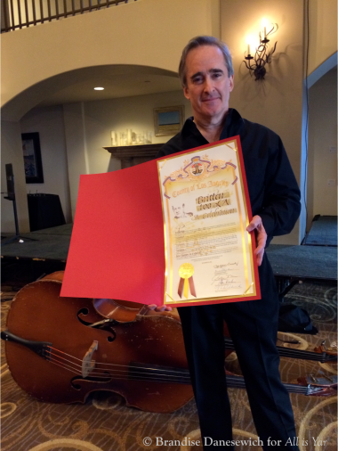 James Conlon with LA County proclamation