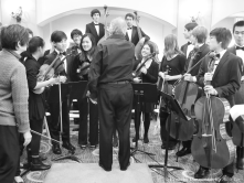 James Conlon with SMHS Chamber Orchestra after concert
