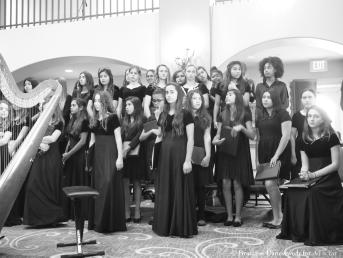 middle school girls choir (b&w)