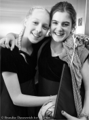 SM middle school singers backstage 2 (B&W)