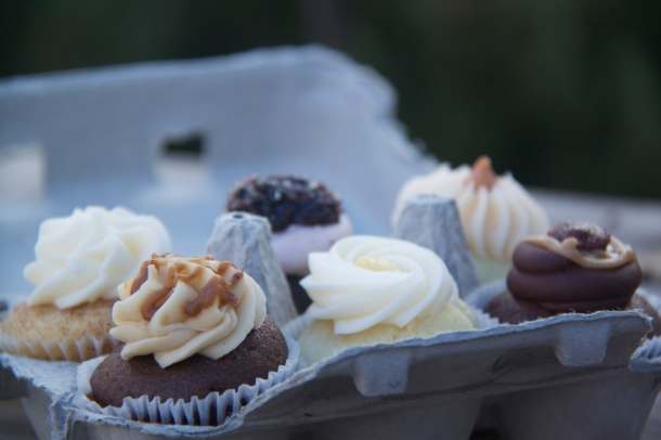 A cupcake tasting six-pack from Enjoy Cupcakes
