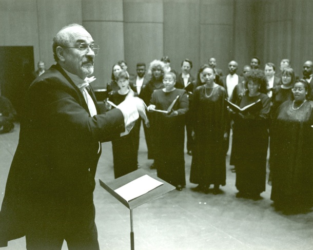 Paul Salamunovich conducting chorale