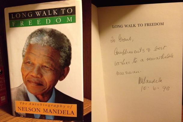 Grant Gershon - Nelson Mandela autograph