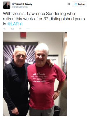 Bramwell Tovey and Lawrence Sonderling on Twitter