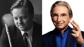 MTT and Gareth Davies (LSO Princ. Flute) discuss previous night's ménage a trois in LA hotel elevator (truestory)