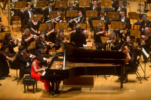 LSO with MTT and Yuja Wang (photo by Drew A. Kelley)