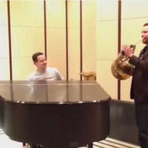 Video:  Andrew Bain and Eugene Izotov jazz upStrauss