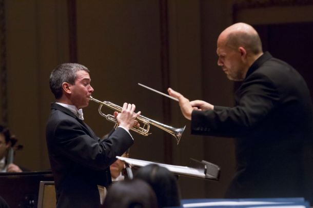 Christopher Martin (trumpet) and Jaap van Zweden (conductor)