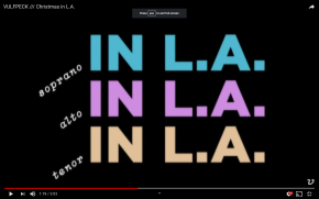 "Music video:  ""Christmas in L.A."""